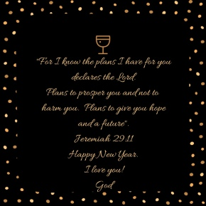 Happy New Year 2018 from Jeremiah 29:11